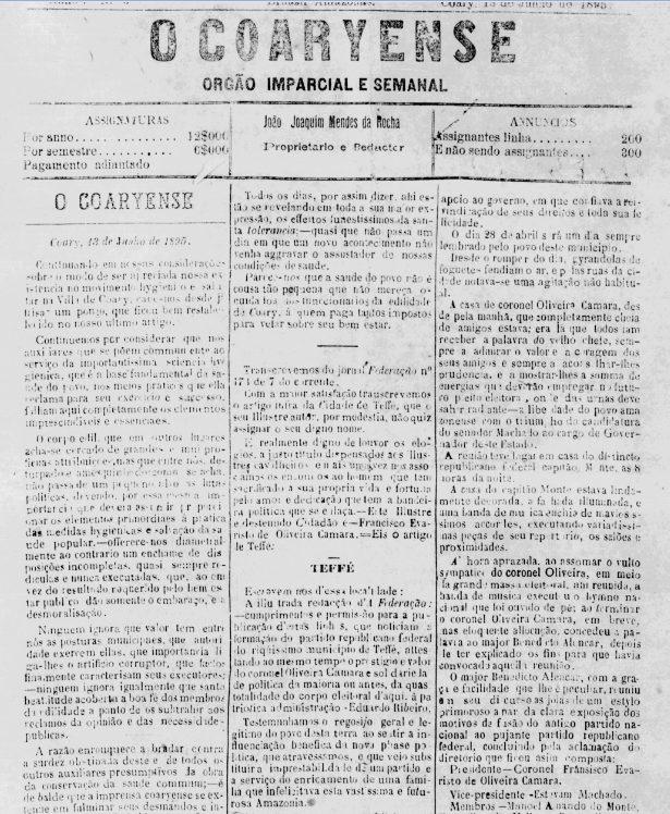 Jornal Semanal O Coaryense